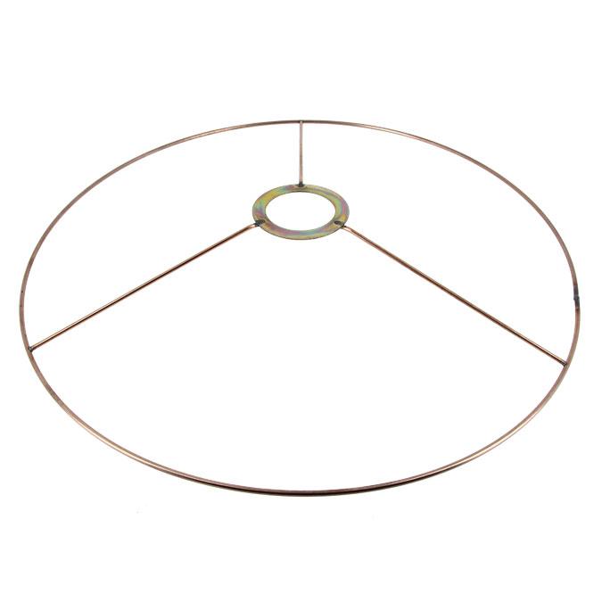 Carcasse d'abat-jour Cercle bagué E27 Ø 35 cm Cuivre