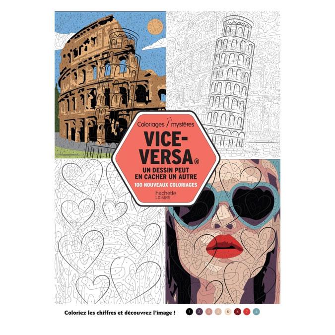 Coloriages mystères Vice-Versa un dessin peut en cacher un autre T.2