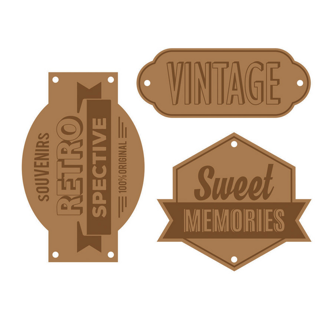 Etiquettes en cuir Sweet memories
