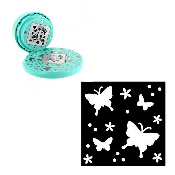 Perforatrice volante fond papillons