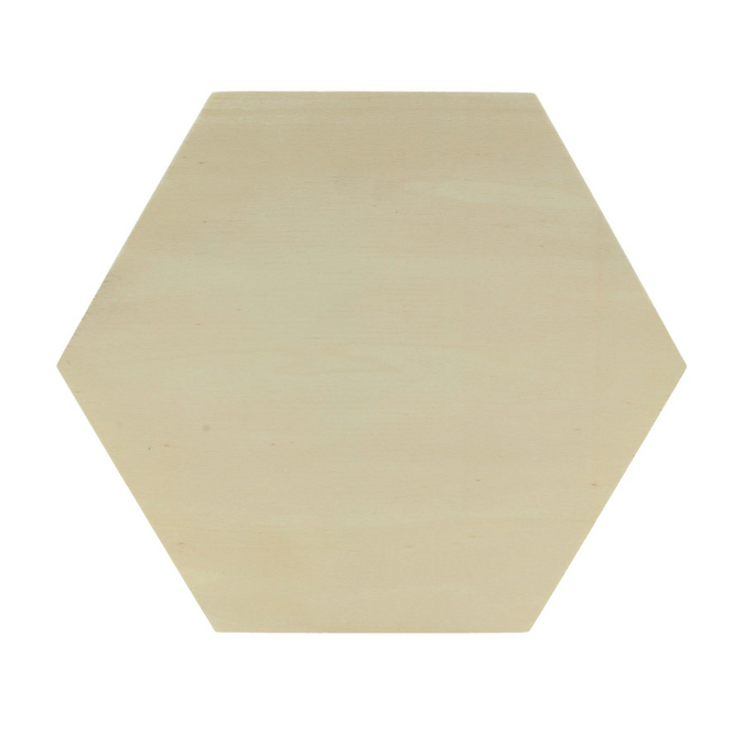 Plaque hexagonale en bois 30 x 26 cm