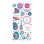 Stickers Puffies Flower Power peace & love