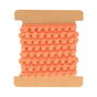 Ruban pompons orange x 1 m