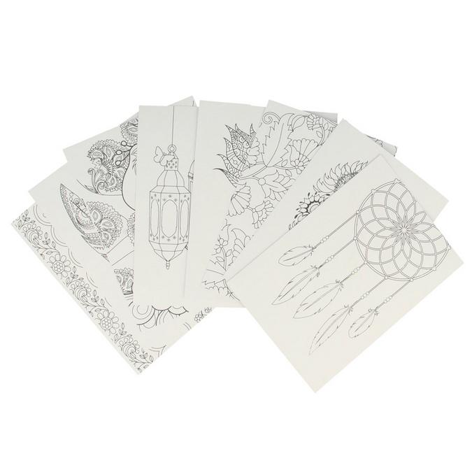 Cartes et enveloppes Flower Power x 8 pcs