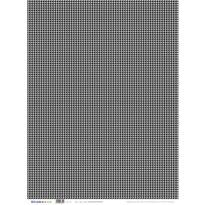 Papier pied de poule Fashionista 50 x 70 cm