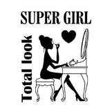 Tampon clear super girl 7 x 9 cm