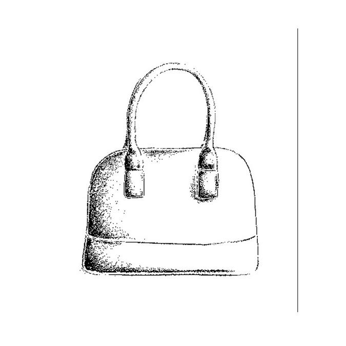 Tampon en bois sac à main 3,7 x 4 cm