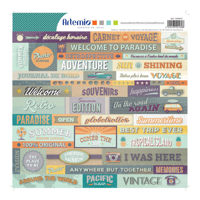 Stickers Sweet memories 30 x 30 cm
