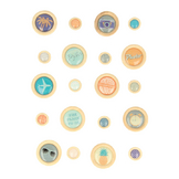 Boutons époxy Sweet memories x 20 pcs