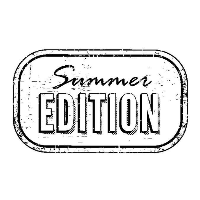 Tampon en bois summer edition 5,3 x 3,7 cm