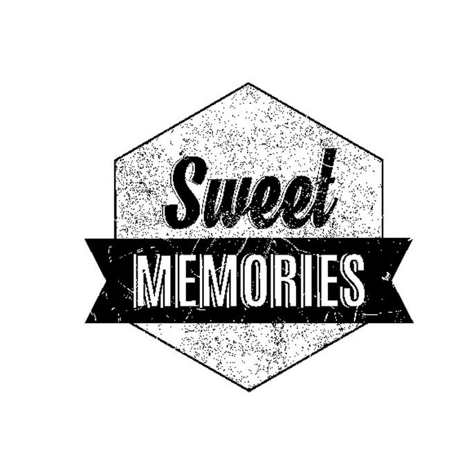 Tampon en bois Sweet memories 3,7 x 4 cm