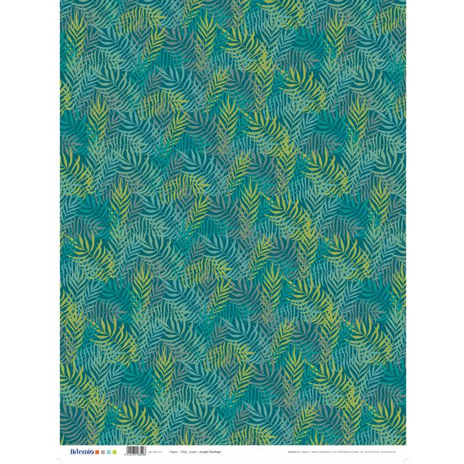 Papier Jungle feuillage 50 x 70 cm