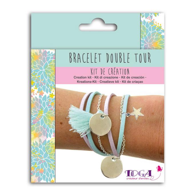 Bijoux en kit Bracelet double tour Caraïbes