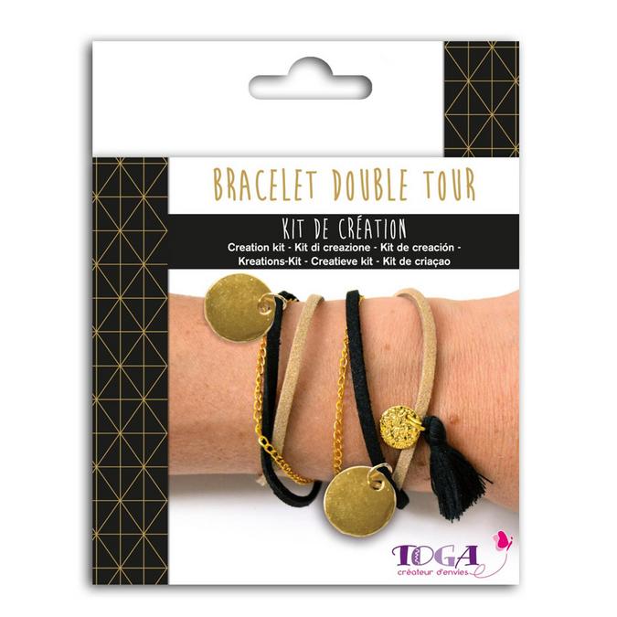 Bijoux en kit Bracelet double tour Or