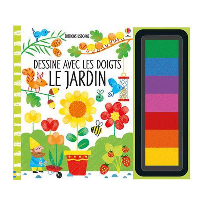 Livre Dessine avec les doigts Le jardin