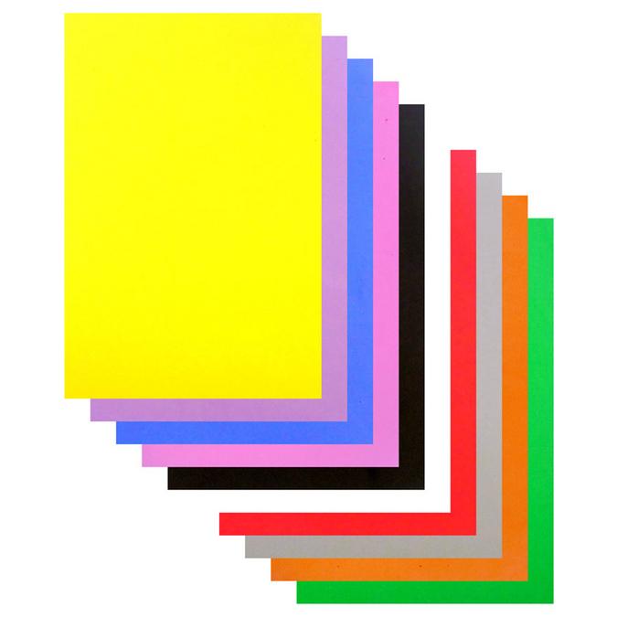 Mousse EVA 20 x 30 cm ep. 2 mm - 10 coloris assortis