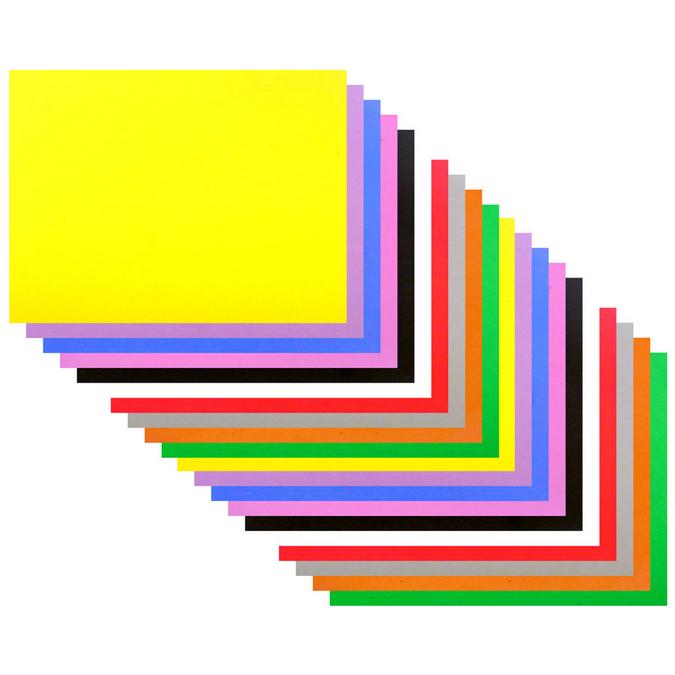 Mousse EVA 30 x 40 cm ep. 2 mm - 10 coloris assortis