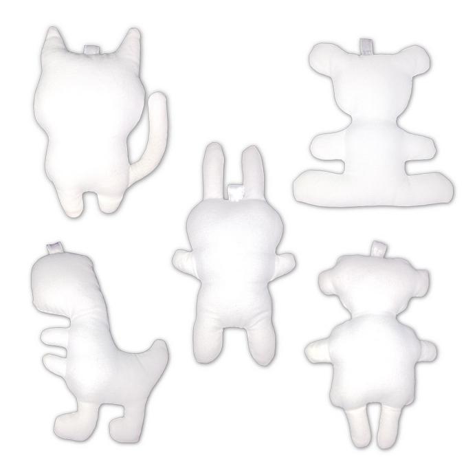 Personnages et animaux en tissu blanc à customiser - 10 pcs
