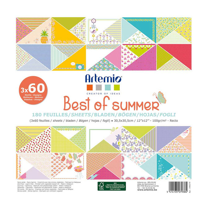 Bloc de feuille Best of Summer - 30,5 x 30,5 cm 180 feuilles