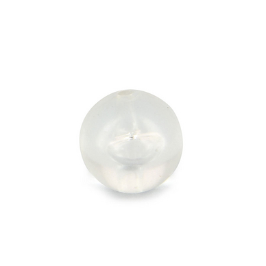 Perle ronde synthétique mate transparente - 12 mm
