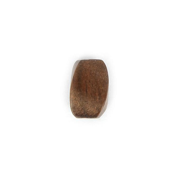 Perle allongée à facettes bois naturel - 10 x 15 mm