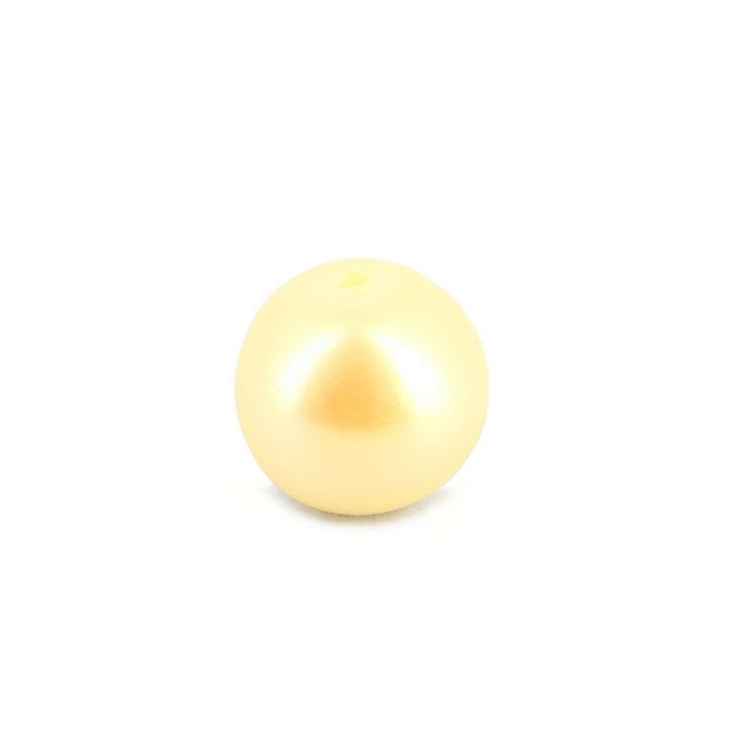 Perle ronde synthétique nacrée blanche - 10 mm