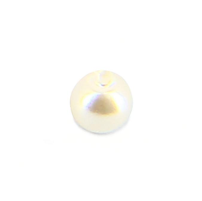 Perle ronde synthétique nacrée blanche - 3 mm