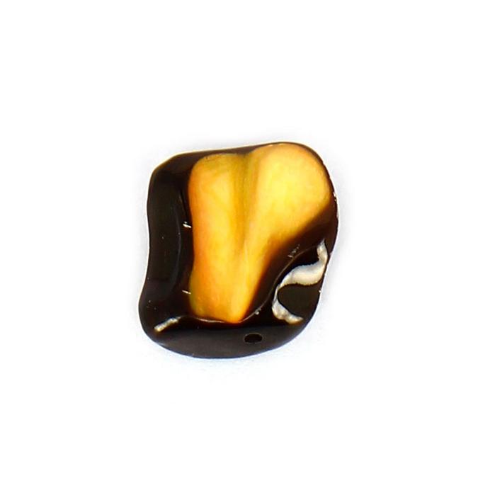 Perle irrégulière œil de tigre marron - 10,3 x 154 mm