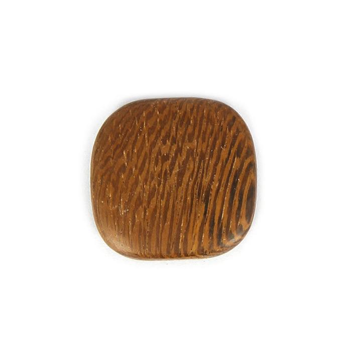 Perle carrée bords arrondis bois naturel - 23 x 6 mm