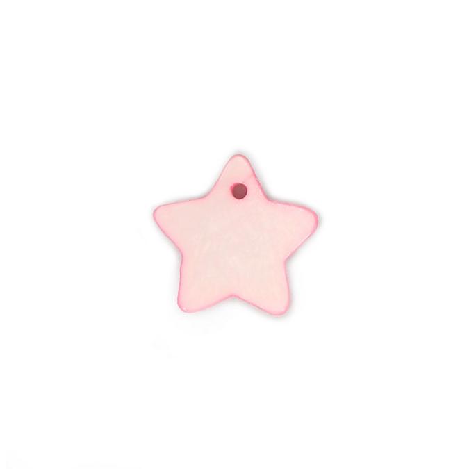 Perle en nacre étoile rose - 18 mm