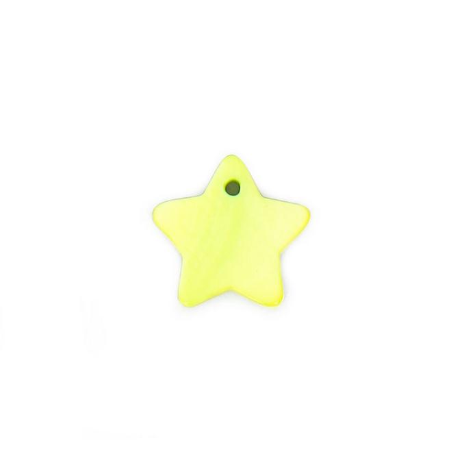 Perle en nacre étoile vert clair - 18 mm