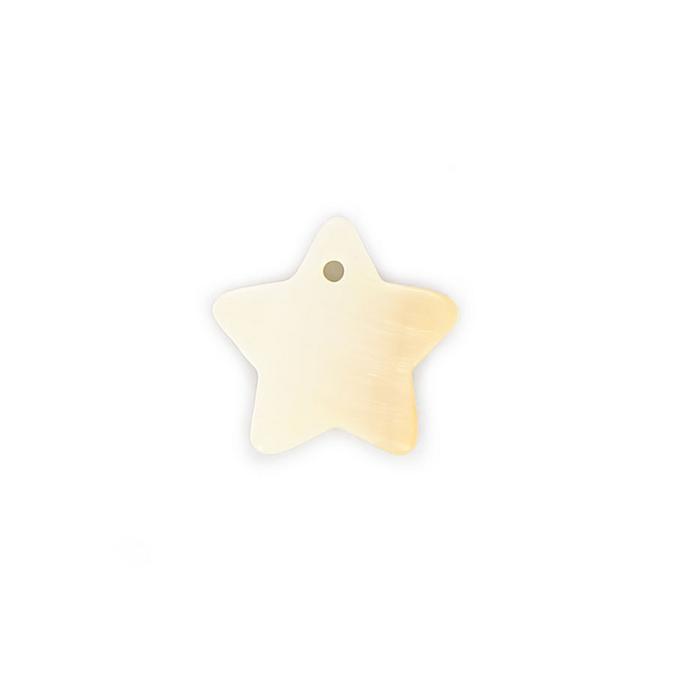 Perle en nacre étoile blanche - 18 mm