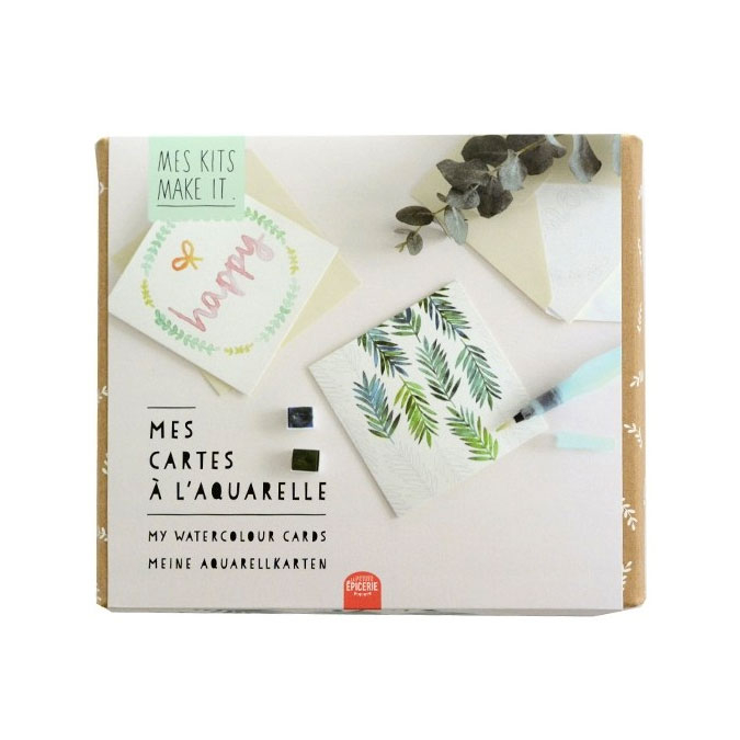 Mes Kits Make It - Mes cartes à l'aquarelle