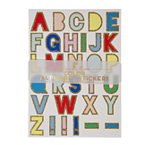 Alphabet stickers multicolore x 10 pcs