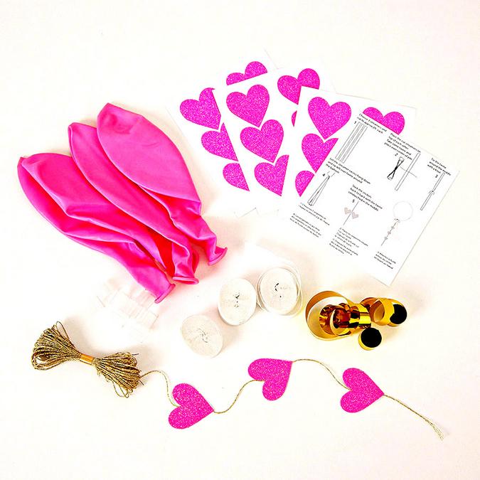 Kit ballon rose x 8 pcs