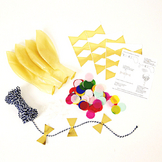 Kit ballon confettis multicolore x 8 pcs