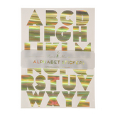 Alphabet stickers dorés x 10 pcs