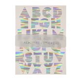 Alphabet stickers argentés x 10 pcs