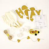 Kit ballon personnalisable or x 8 pcs