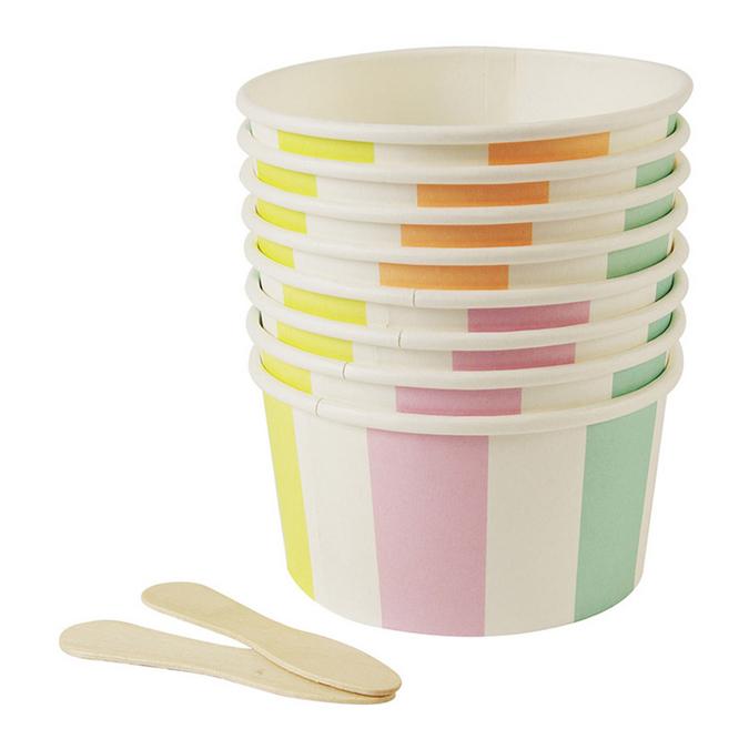 Pots pour glace x 8 pcs