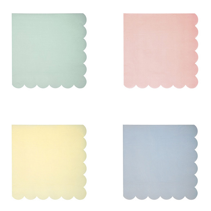 Serviettes en papier pastel petit format x 20 pcs
