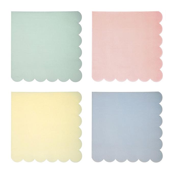 Serviettes en papier pastel grand format x 20 pcs