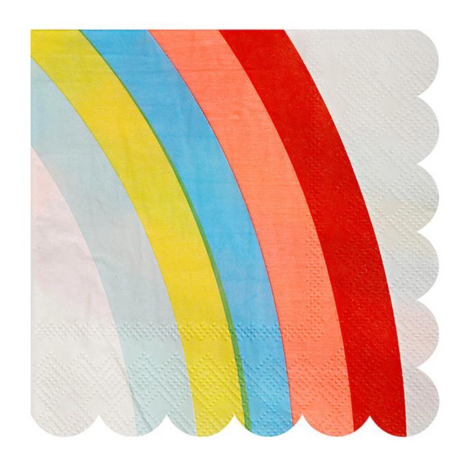 Serviettes en papier Arc-en-ciel petit format x 20 pcs
