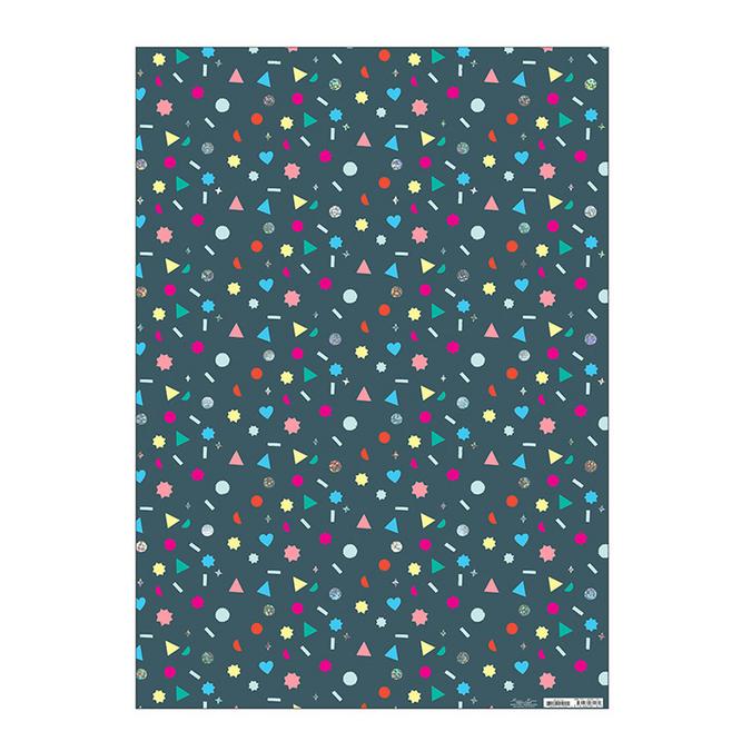 Papier cadeau géométrie 50 x 70 cm