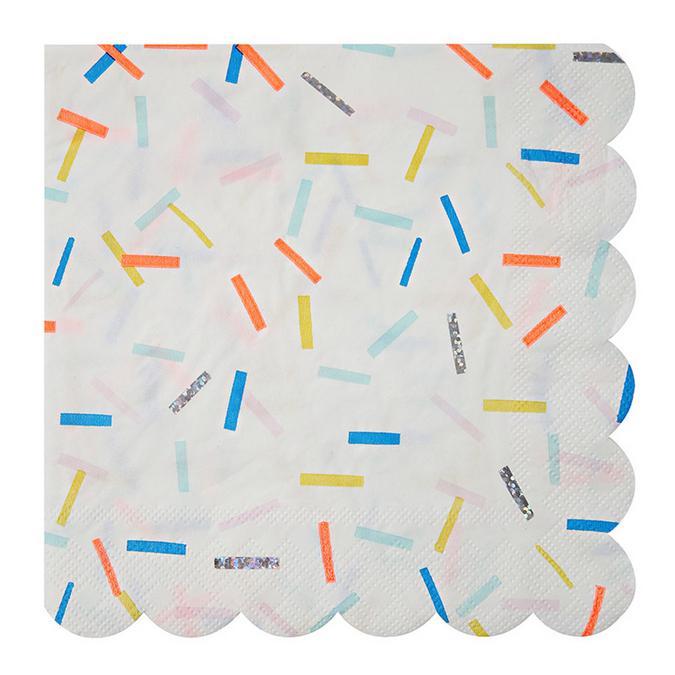 Serviettes en papier sprinkles grand format x 16 pcs