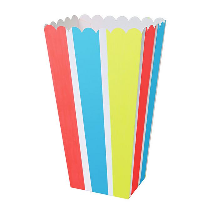 Boîte à pop-corn arc-en-ciel x 8 pcs
