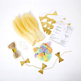 Kit ballon confettis fluos x 8 pcs