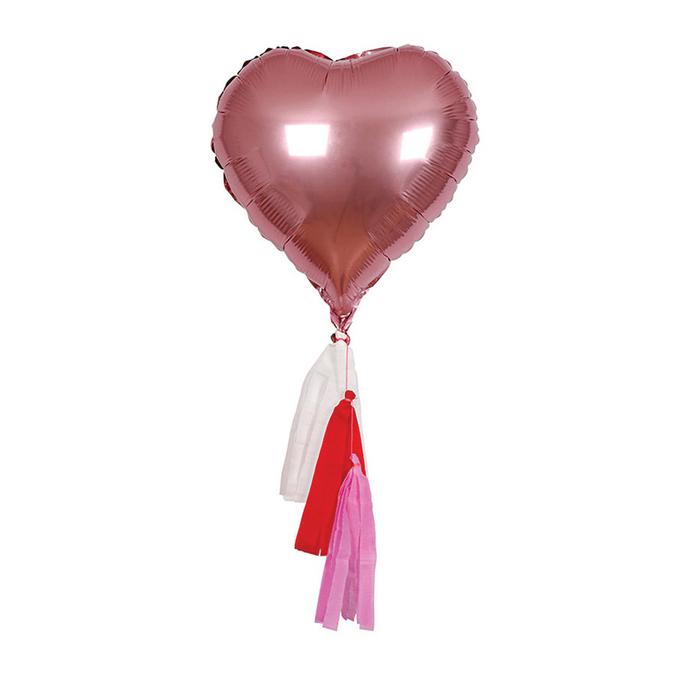Ballon cœur et pompons