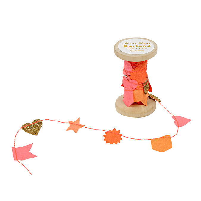 Guirlande bobine rose et orange x 4,5 m