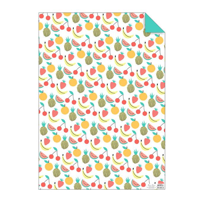 Papier cadeau fruits 50 x 70 cm